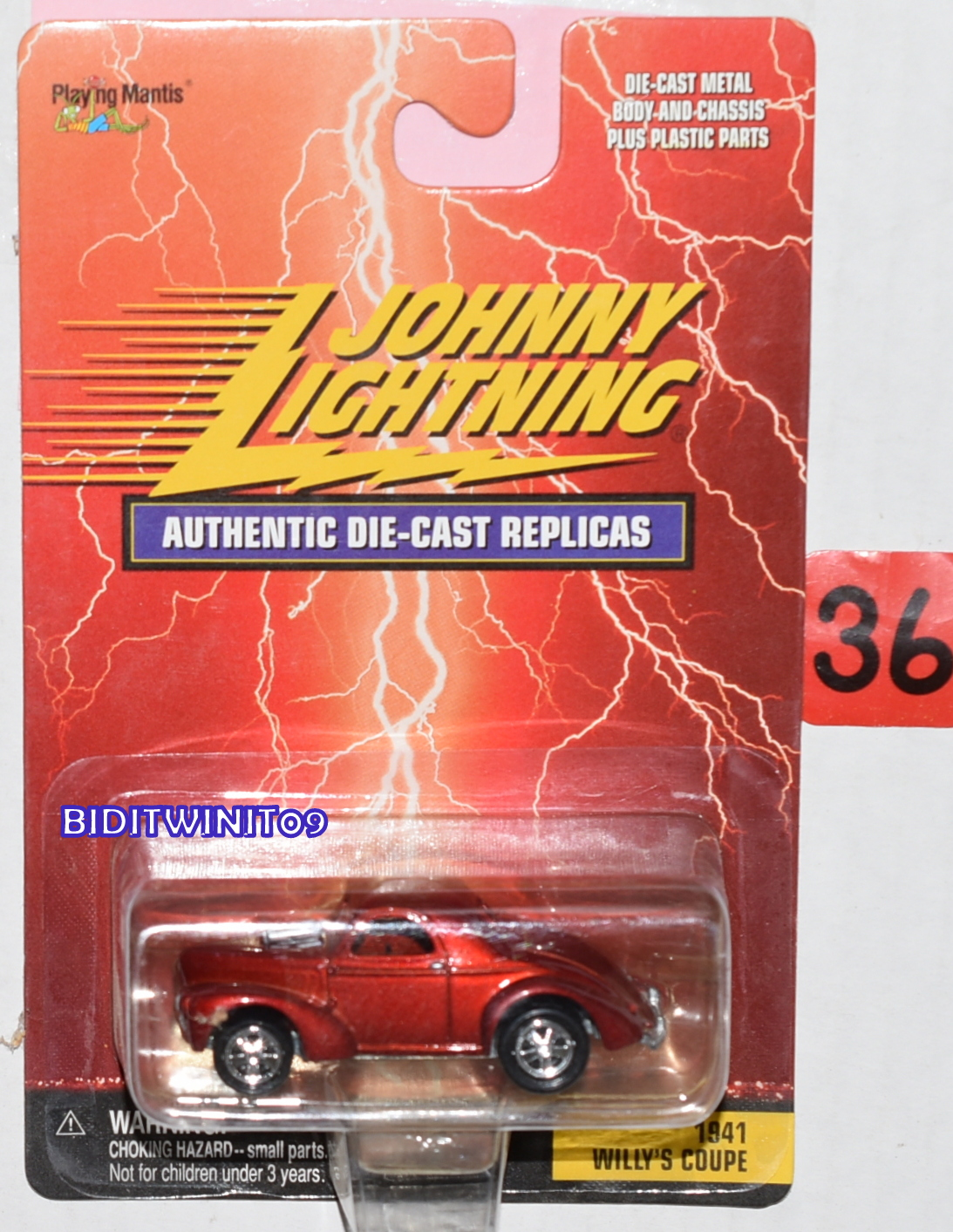 JOHNNY LIGHTNING AUTHENTIC DIE CAST REPLICAS 1941 WILLY'S COUPE RED