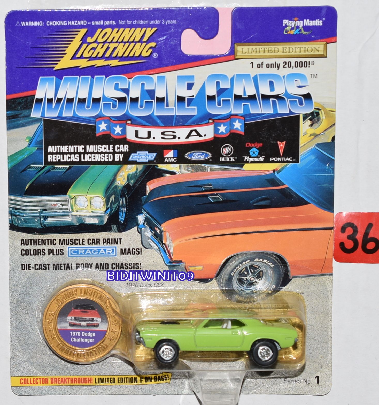 JOHNNY LIGHTNING MUSCLE CARS 1970 DODGE CHALLENGER LIMITED EDITION GREEN E+