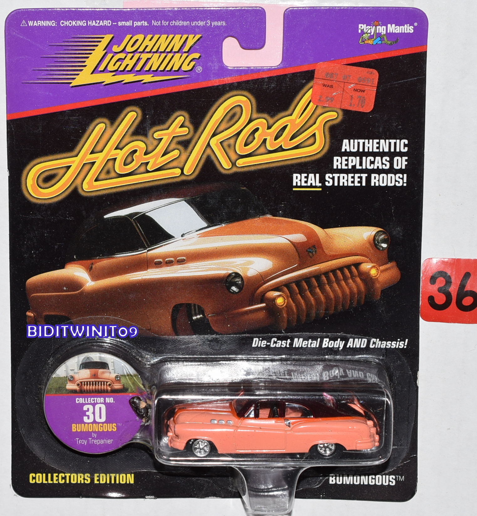 1997 JOHNNY LIGHTNING HOT RODS BUMONGOUS #30 LIMITED EDITION E+