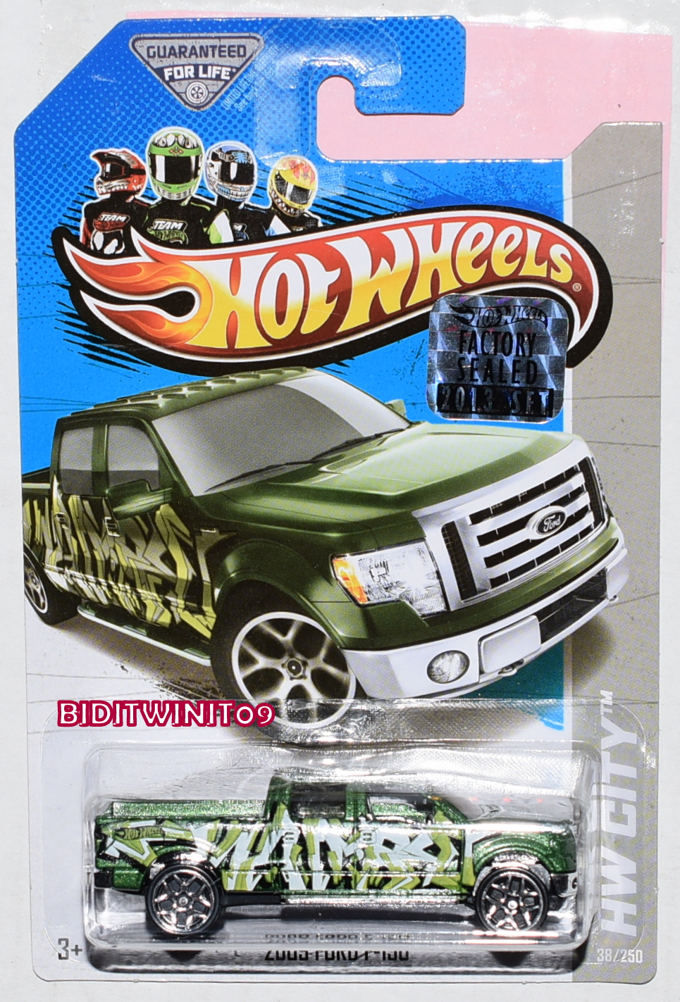 HOT WHEELS 2013 HW CITY 2009 FORD F-150 GREEN FACTORY SEALED