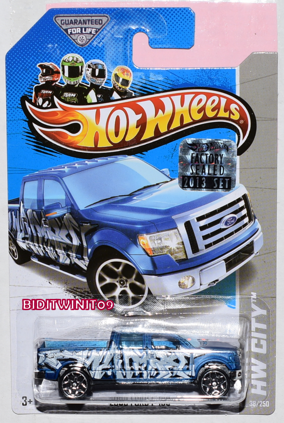HOT WHEELS 2013 HW CITY 2009 FORD F-150 BLUE FACTORY SEALED