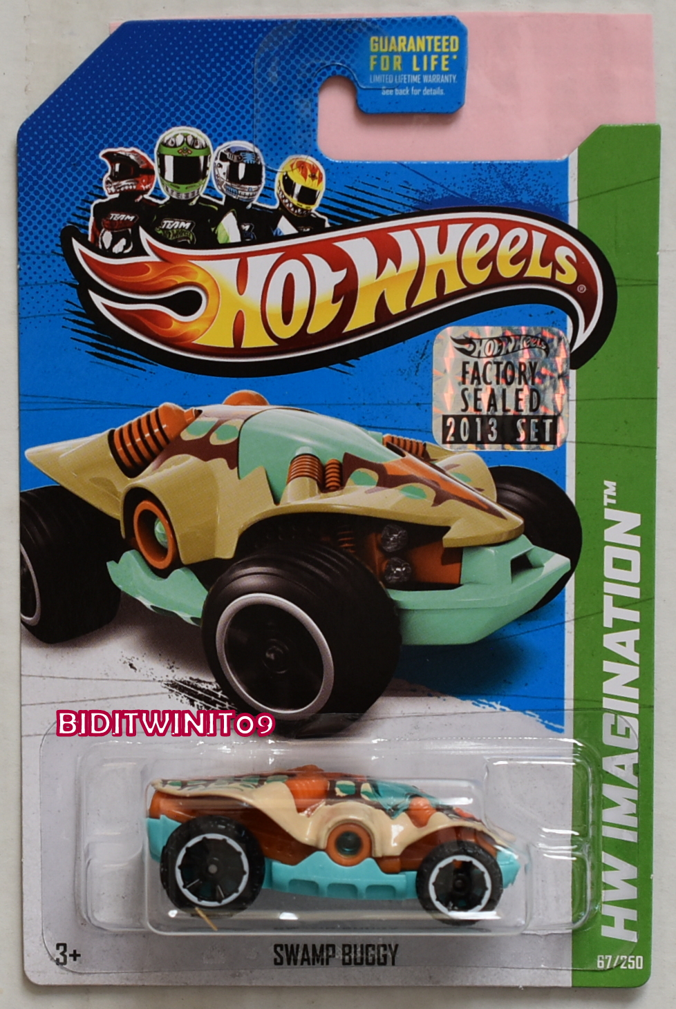 HOT WHEELS 2013 IMAGINATION DINO RIDERS SWAMP BUGGY FACTORY SEALED