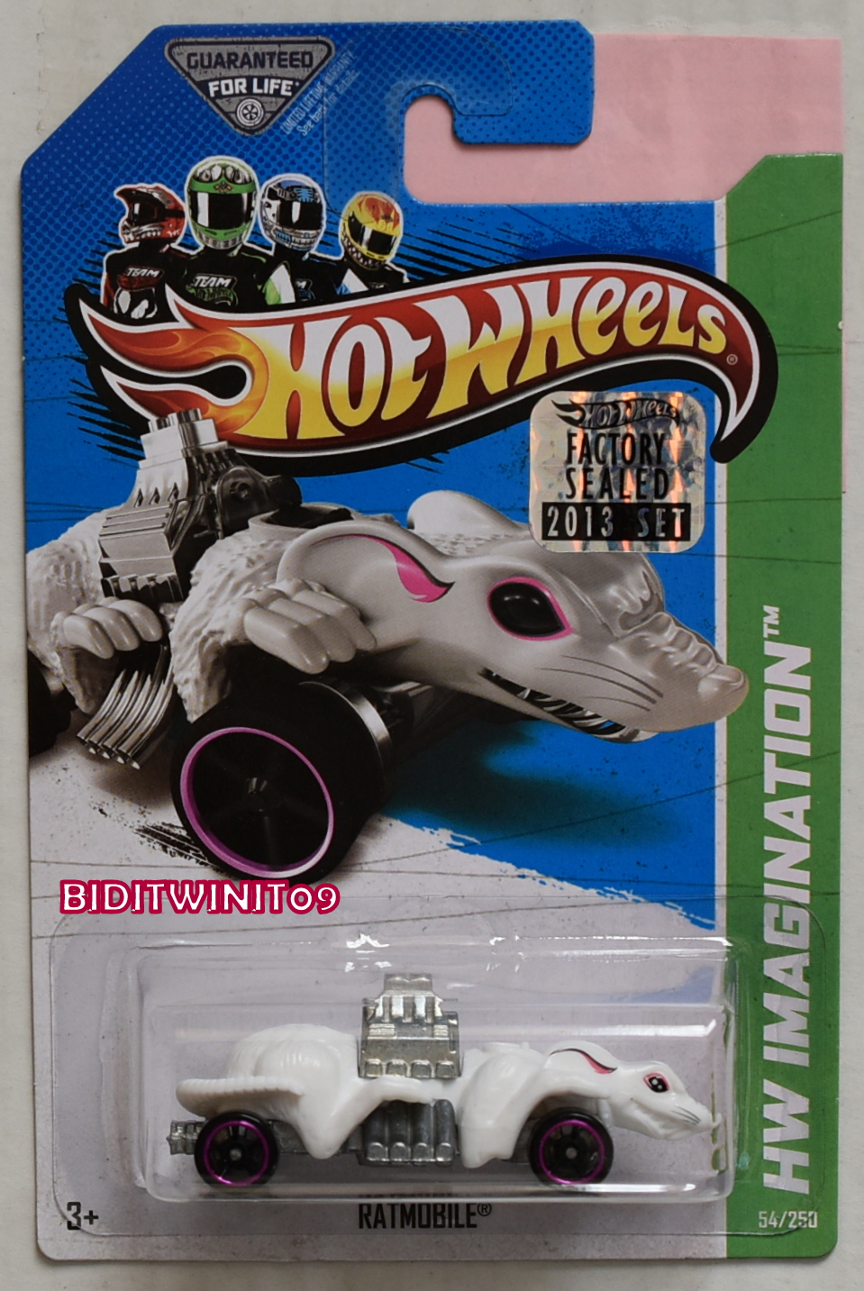 HOT WHEELS 2013 HW IMAGINATION STREET PESTS RATMOBILE WHITE FACTORY SEALED
