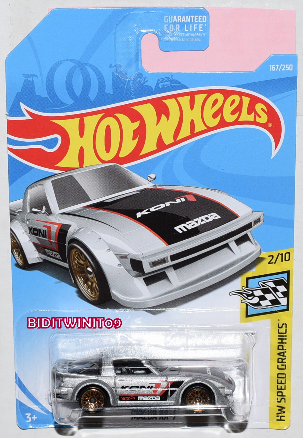 HOT WHEELS 2019 HW SPEED GRAPHICS MAZDA RX-7