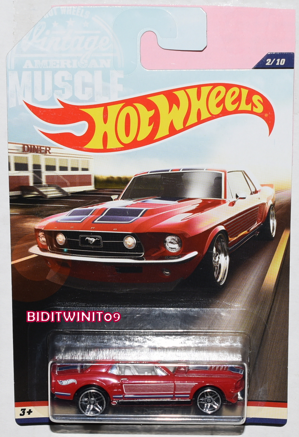 Hot wheels 2017 vintage american muscle 1967 ford mustang coupe 2 10
