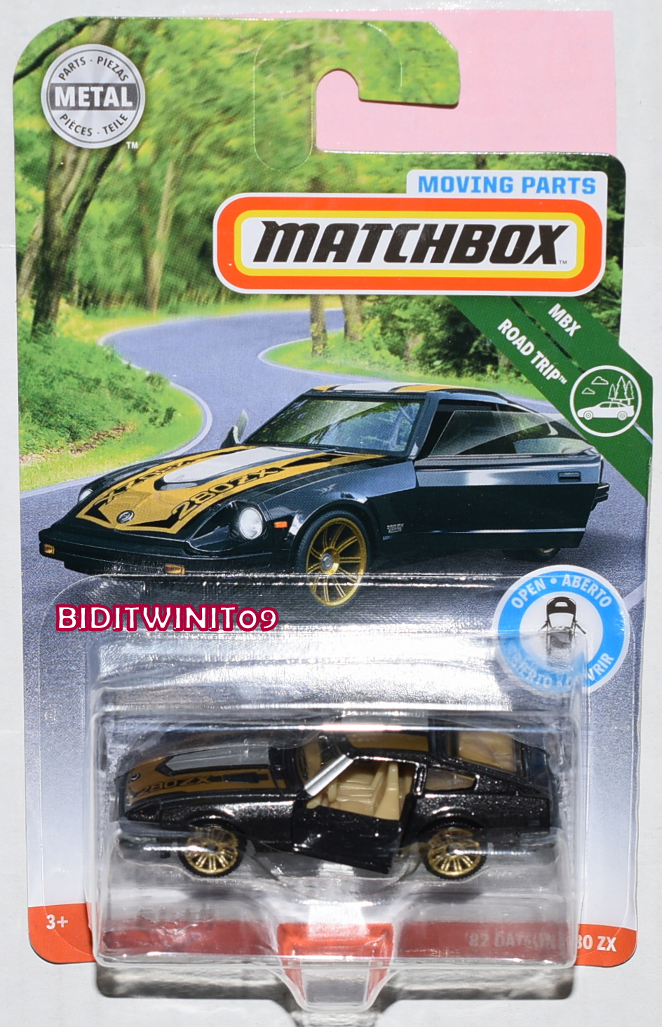 MATCHBOX 2018 MBX ROAD TRIP '82 DATSUN 280 ZX BLACK