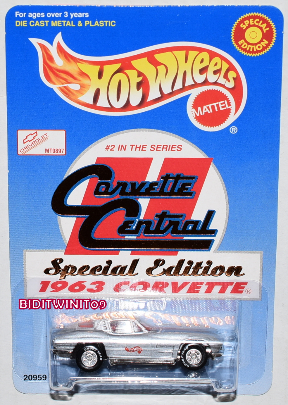 HOT WHEELS 1998 CORVETTE CENTRAL SPECIAL EDITION 1963 CORVETTE #2