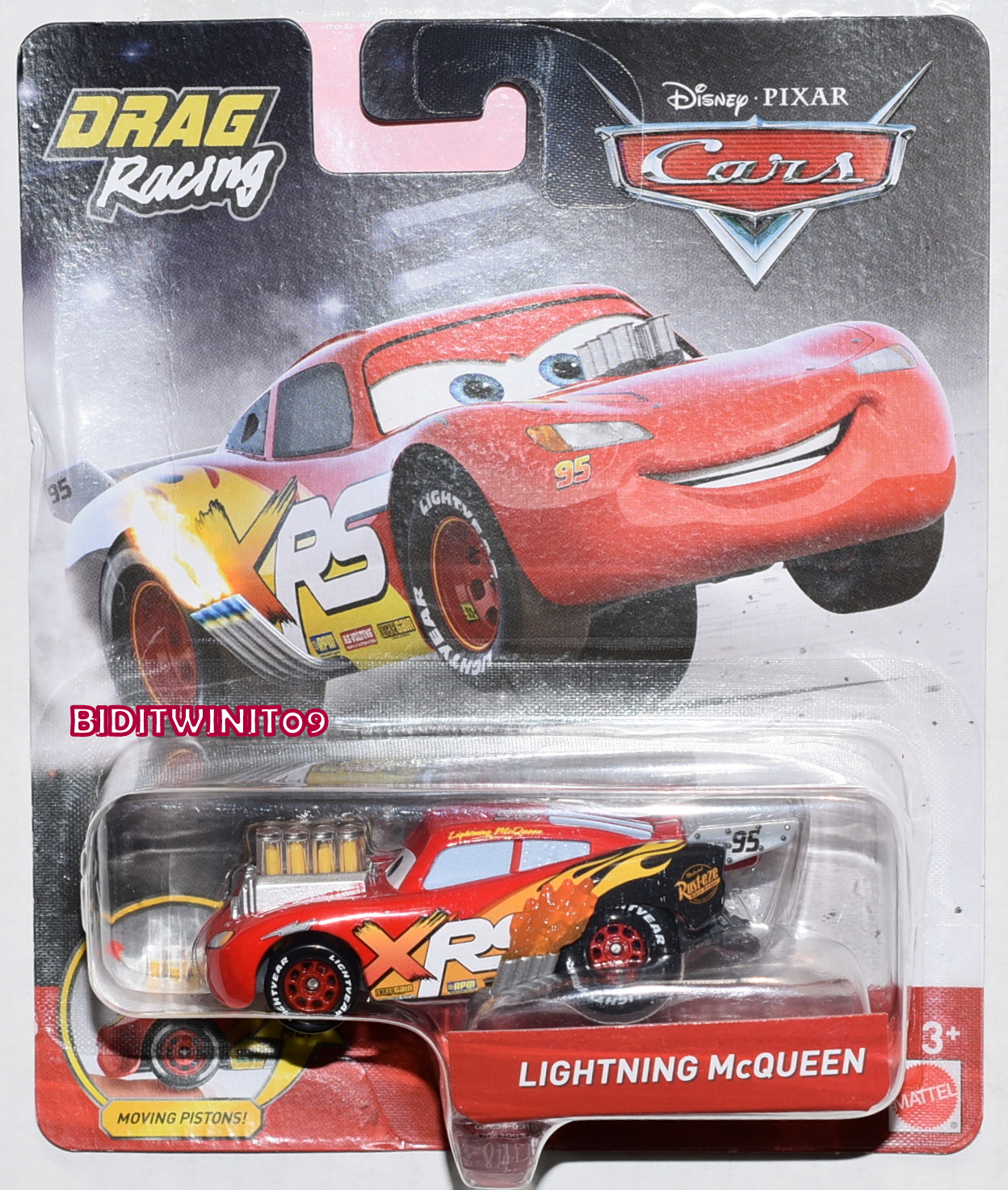 Disney Pixar Cars Drag Racing Lightning Mcqueen Xrs 0018570