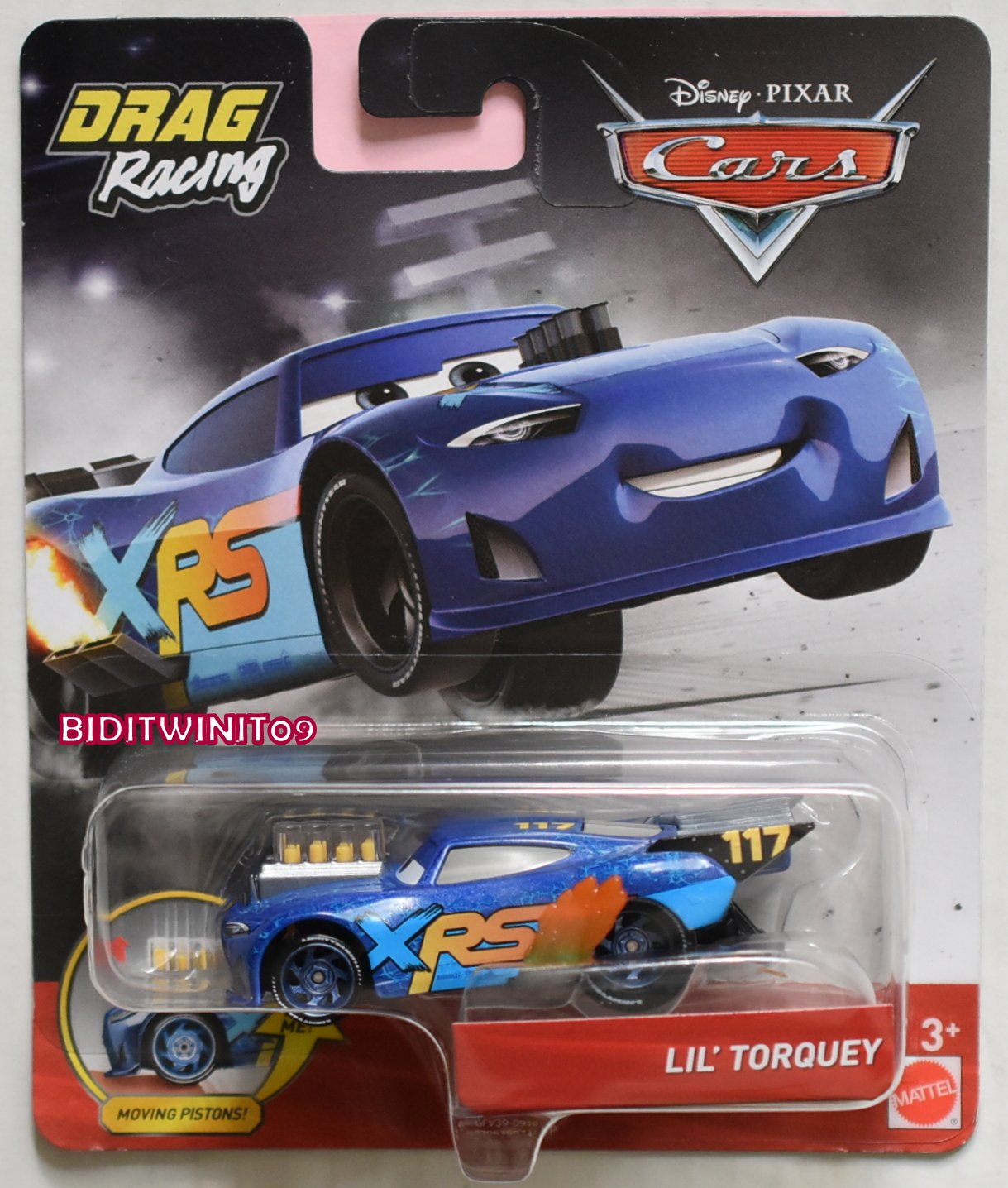 DISNEY PIXAR CARS DRAG RACING LIL' TORQUEY XRS