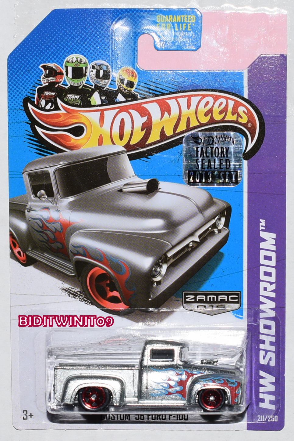 HOT WHEELS 2013 HW SHOWROOM CUSTOM 56 FORD F-100 ZAMAC FACTORY SEALED