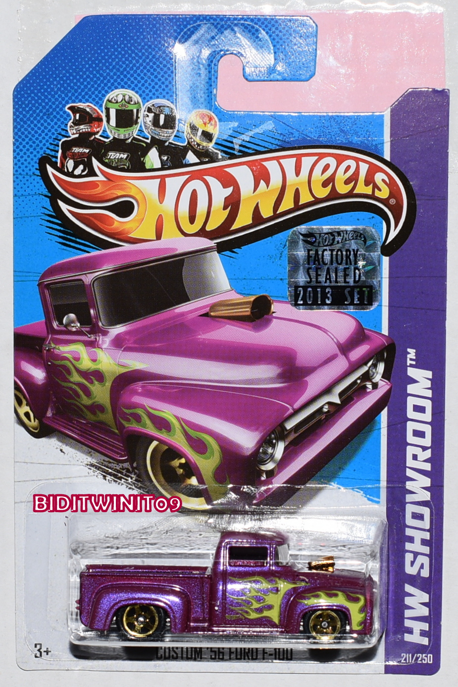 HOT WHEELS 2013 HW SHOWROOM CUSTOM 56 FORD F-100 PURPLE FACTORY SEALED
