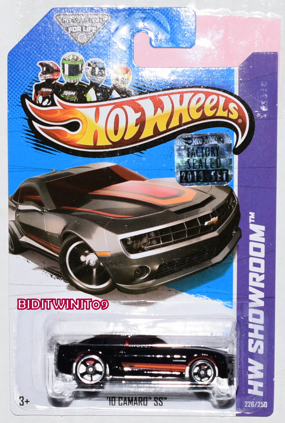HOT WHEELS 2013 HW SHOWROOM '10 CAMARO SS BLACK FACTORY SEALED