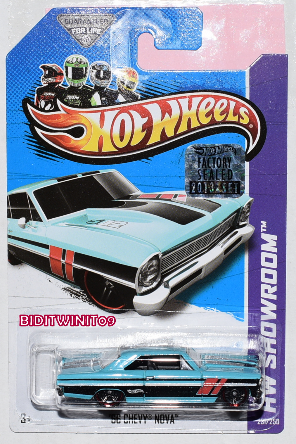 HOT WHEELS 2013 HW SHOWROOM '66 CHEVY NOVA FACTORY SEALED