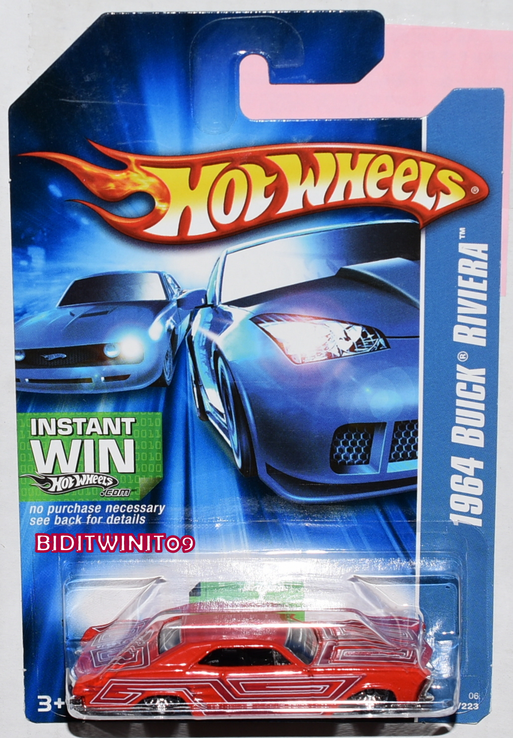 HOT WHEELS 2006 1964 BUICK RIVIERA RED E+