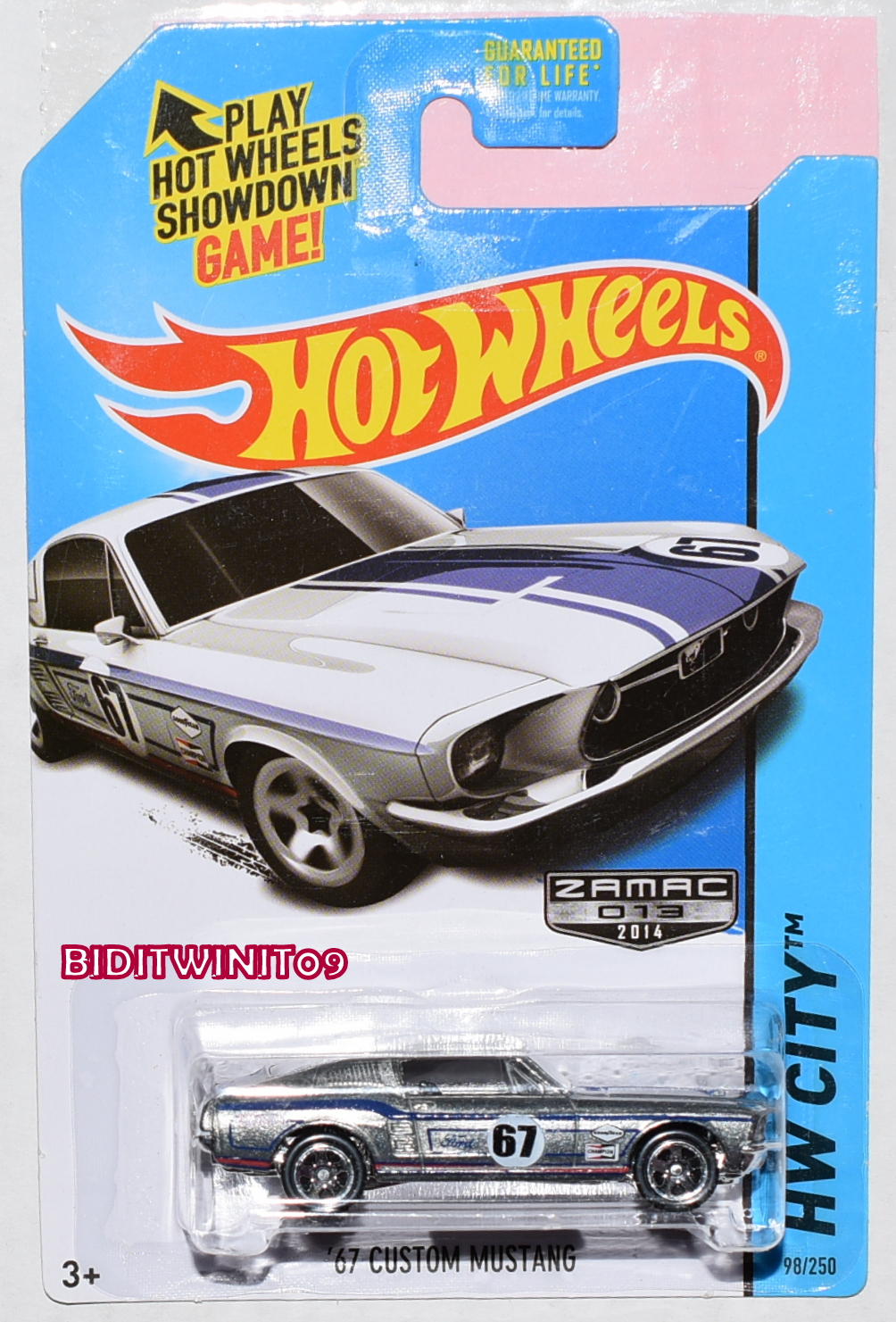 HOT WHEELS 2014 HW CITY '67 CUSTOM MUSTANG ZAMAC