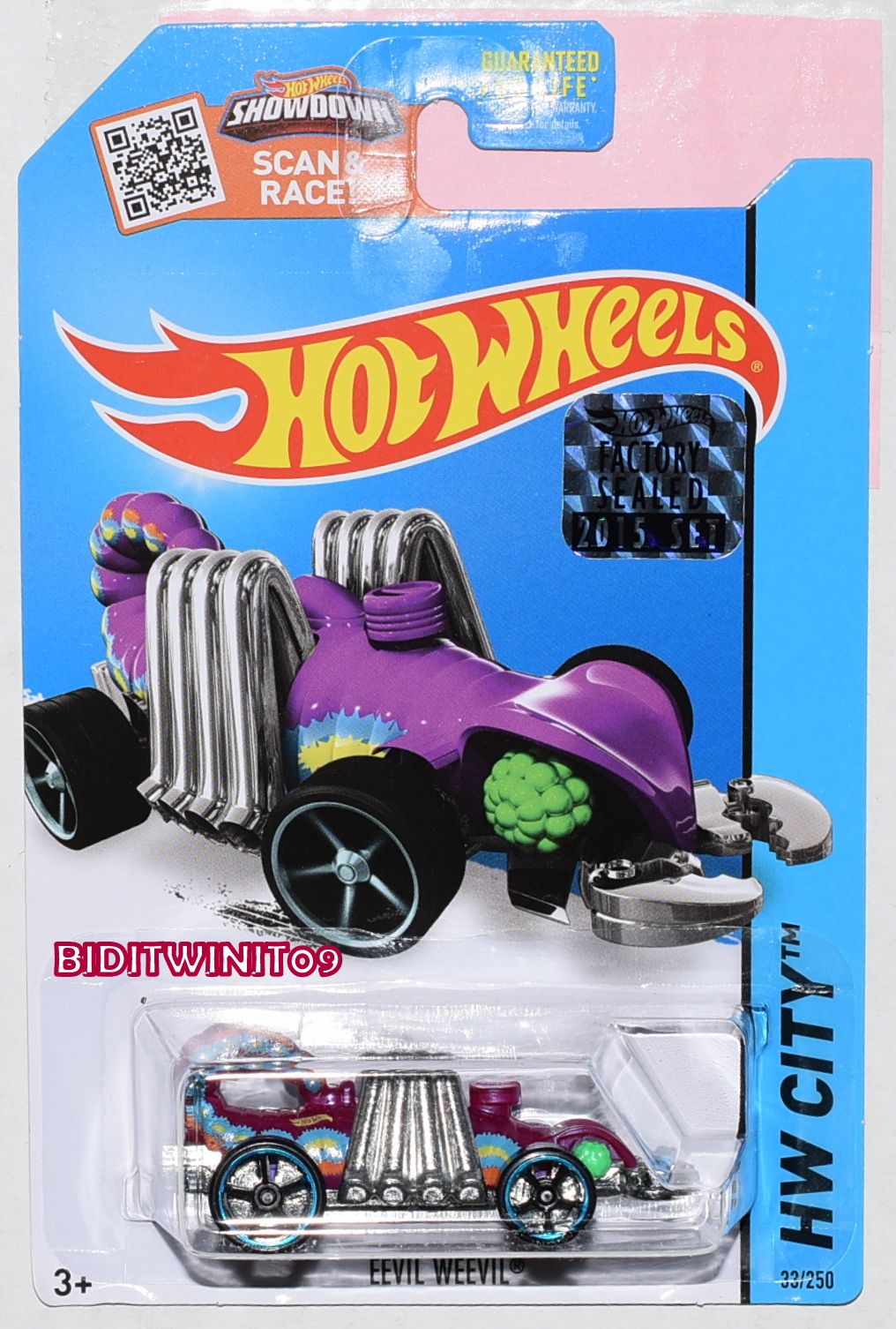 HOT WHEELS 2015 HW CITY EEVIL WEEVIL PURPLE FACTORY SEALED