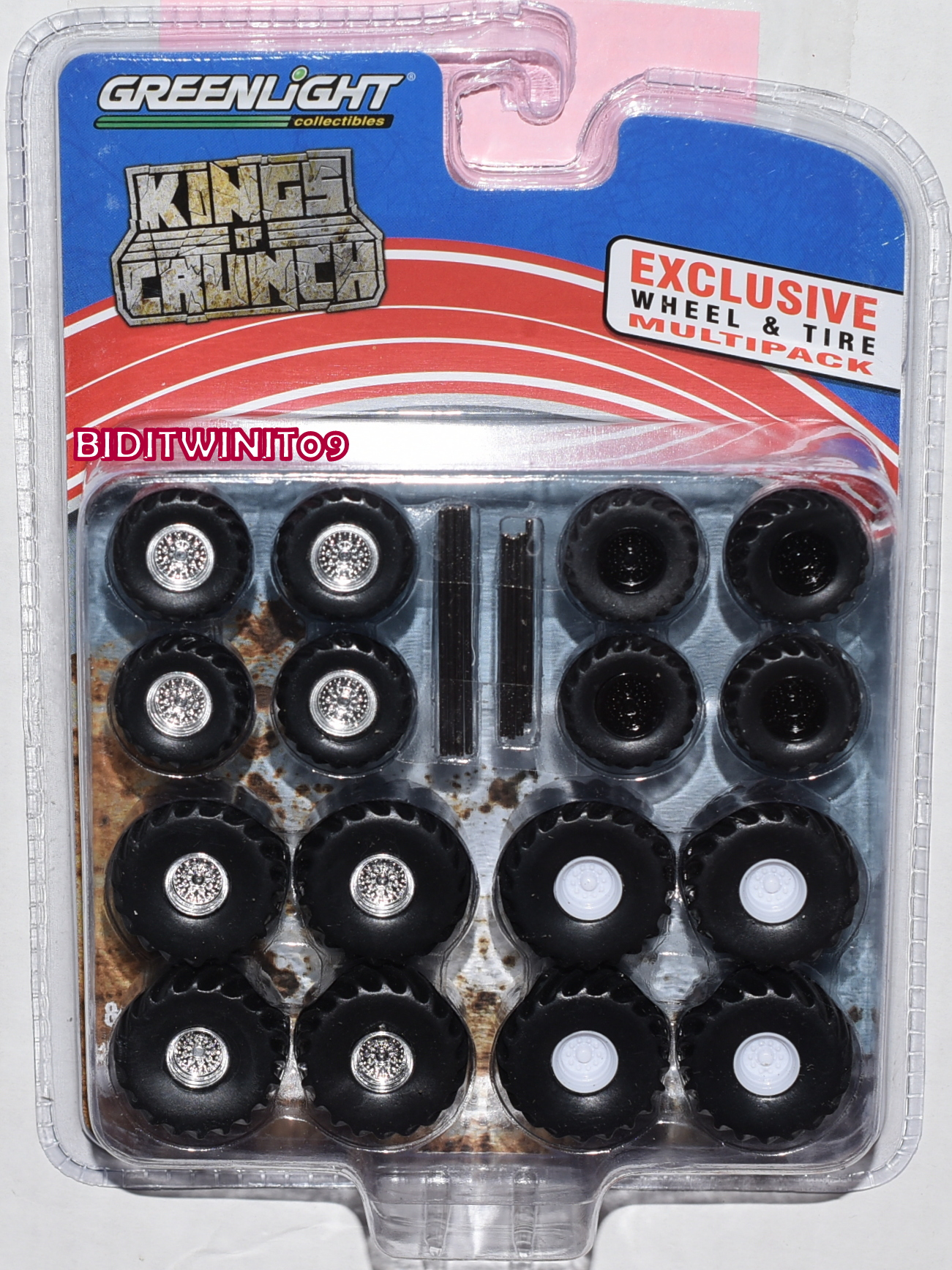 GREENLIGHT KINGS OF CRUNCH WHEEL & TIRE PACK - 16 WHEELS, 16 TIRES