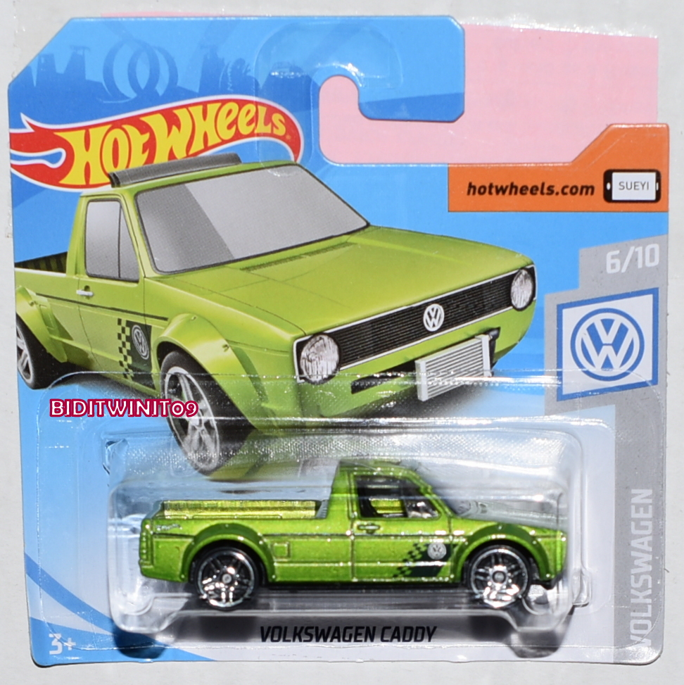 HOT WHEELS CASE J 2019 VOLKSWAGEN CADDY GREEN SHORT CARD