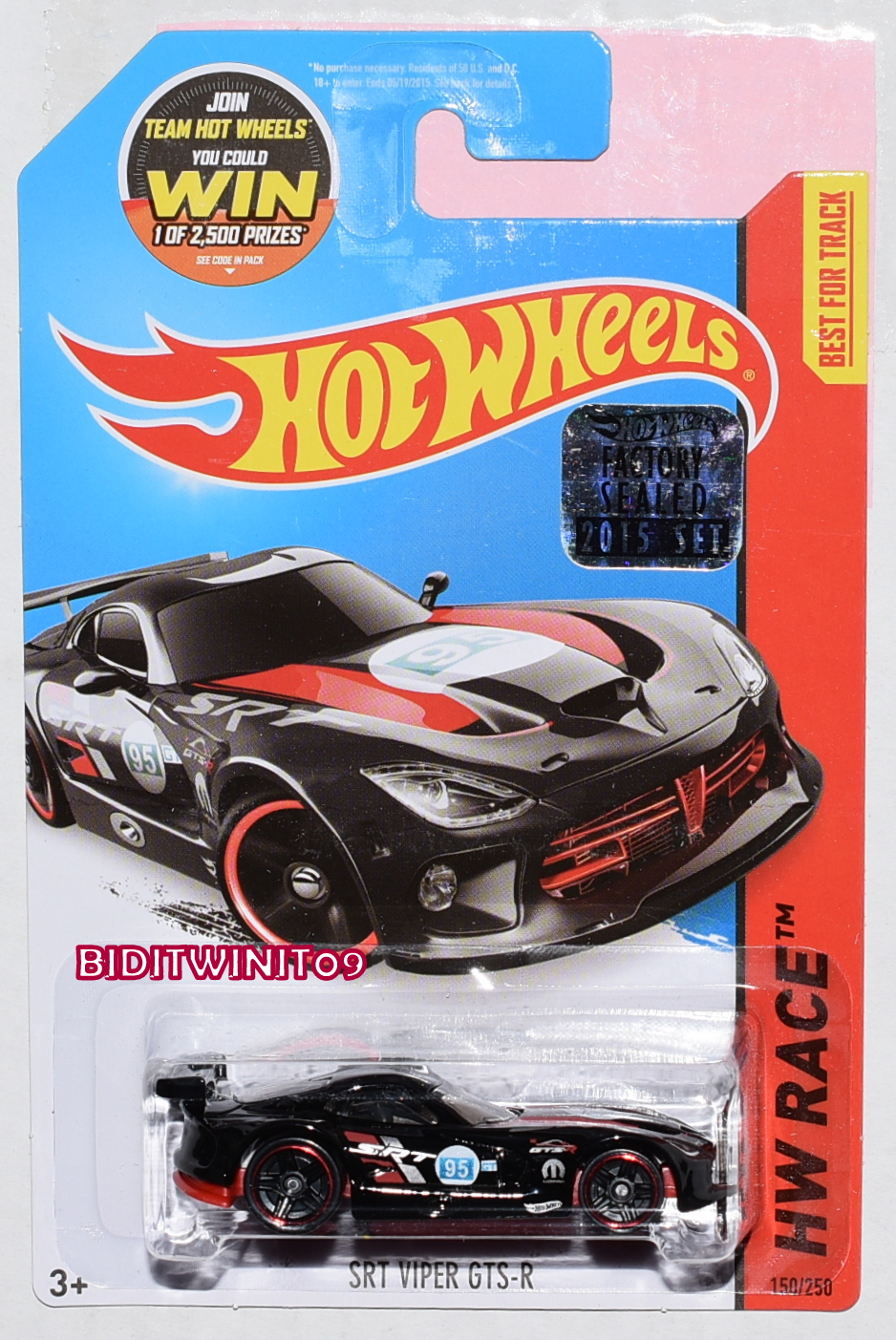 HOT WHEELS 2015 HW RACE SRT VIPER GTS-R BLACK FACTORY SEALED