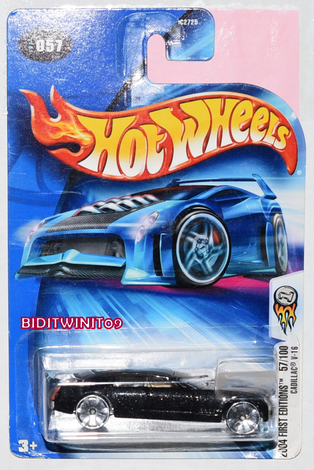 HOT WHEELS 2004 FIRST EDITIONS 57/100 CADILLAC V-16 BLACK