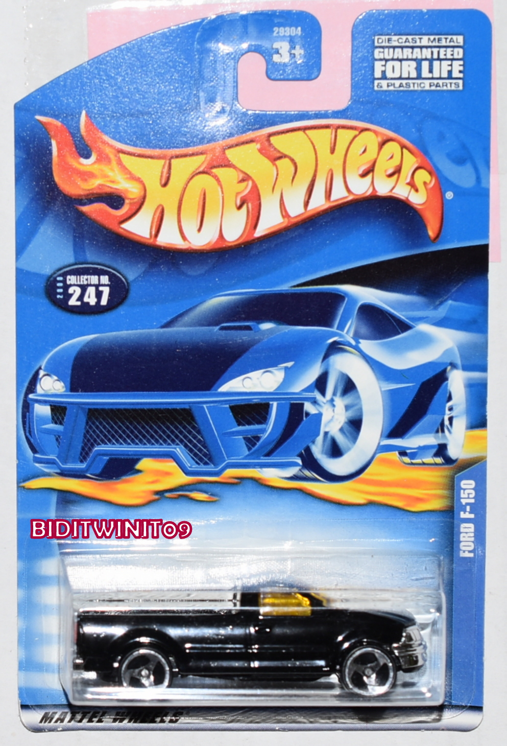HOT WHEELS 2000 FORD F-150 COLLECTOR #247 BLACK