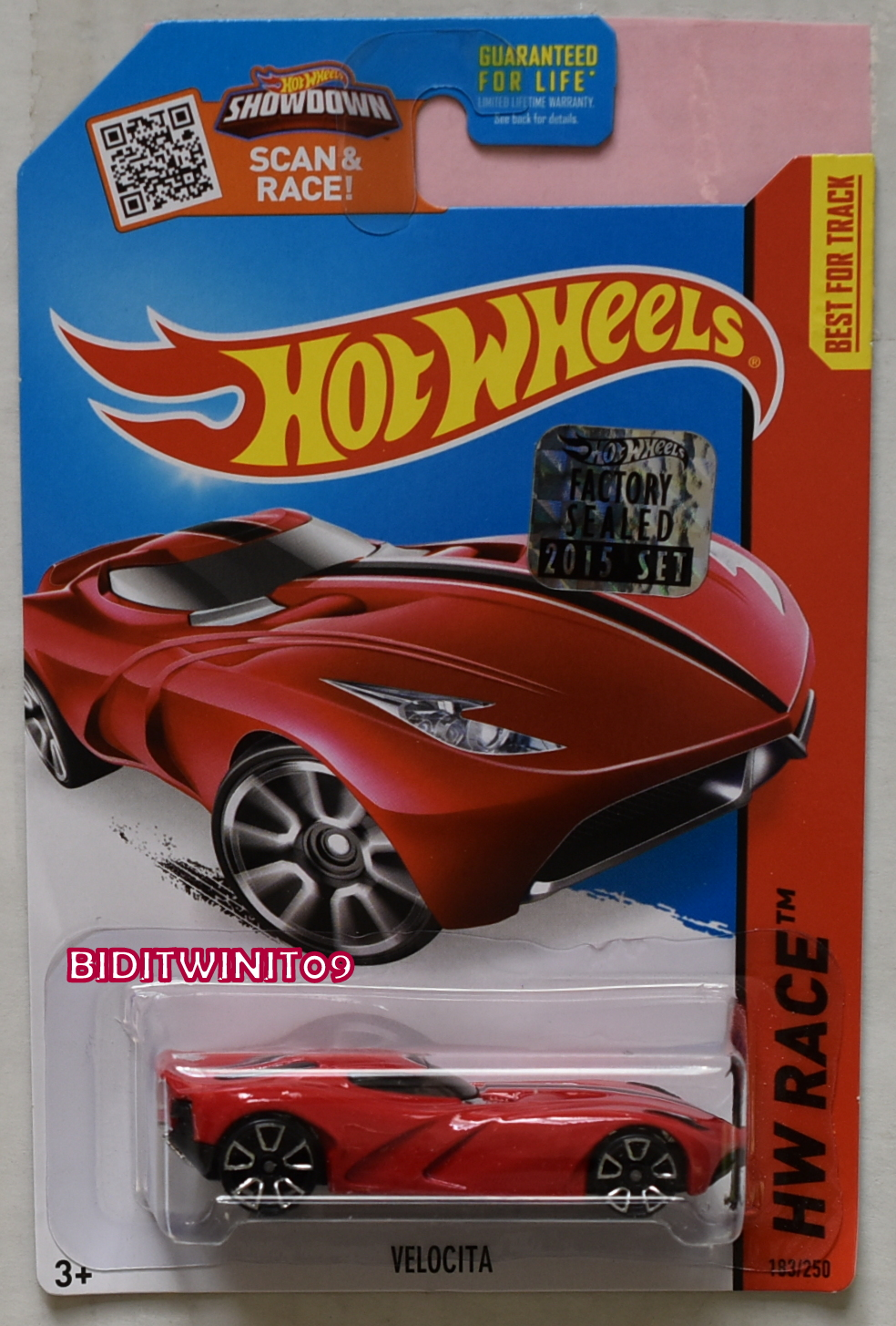 HOT WHEELS 2015 HW RACE VELOCITA RED FACTORY SEALED