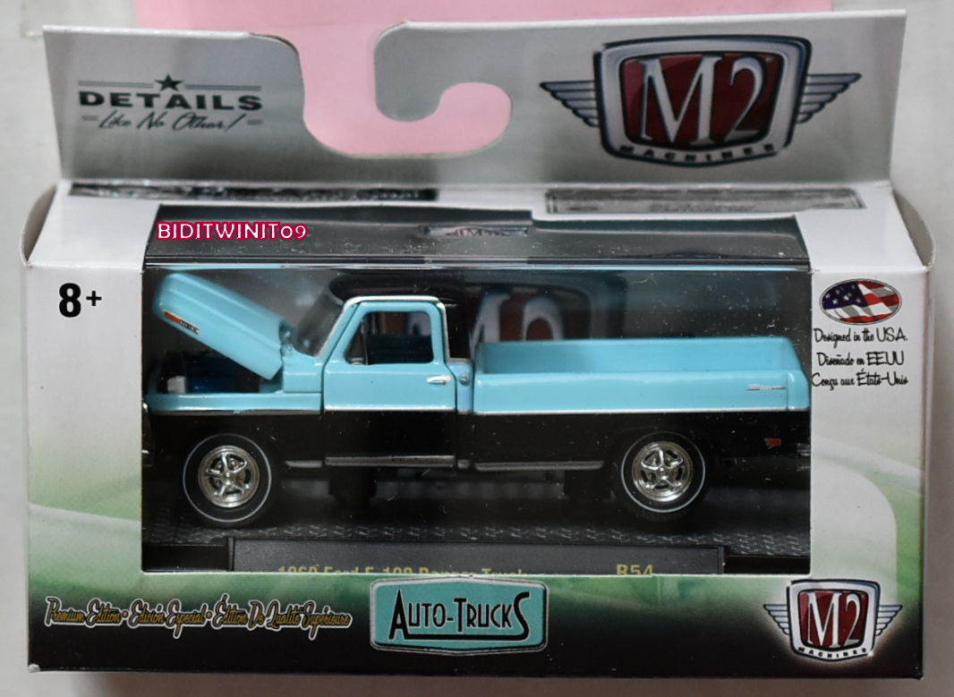 M2 MACHINES 2019 AUTO-TRUCKS 1969 FORD F-100 RANGER TRUCK R54