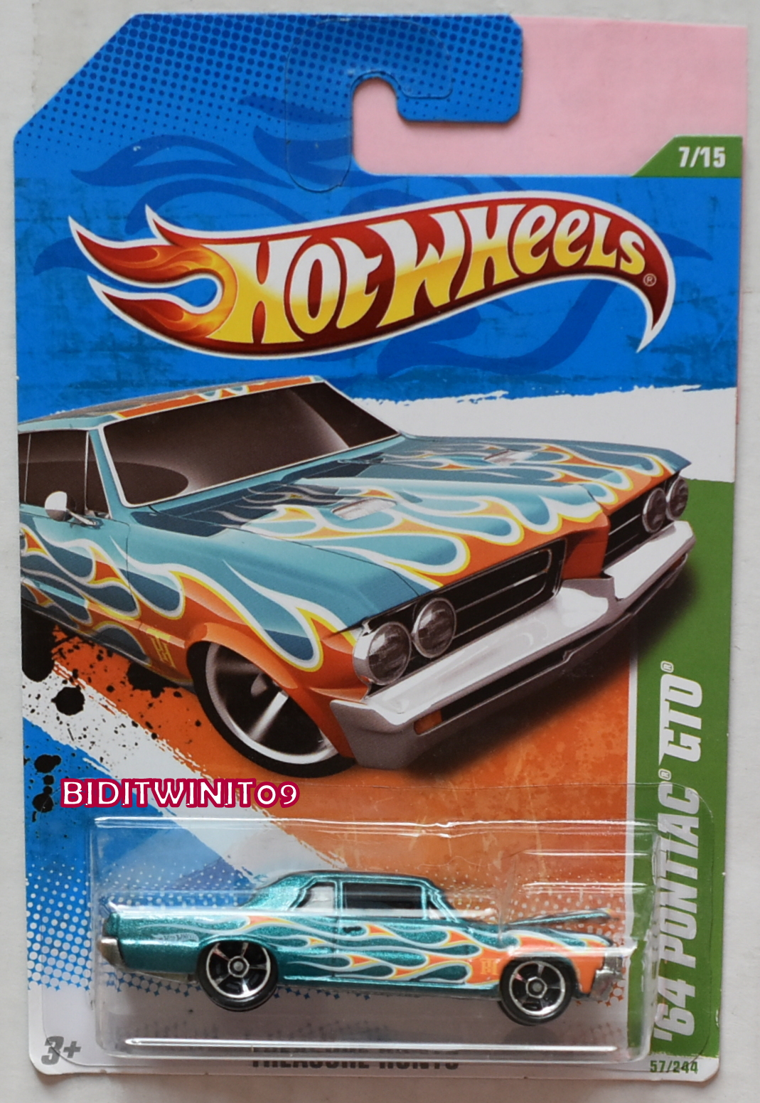 HOT WHEELS TREASURE HUNT 2011 '64 PONTIAC GTO #07/15 REGULAR