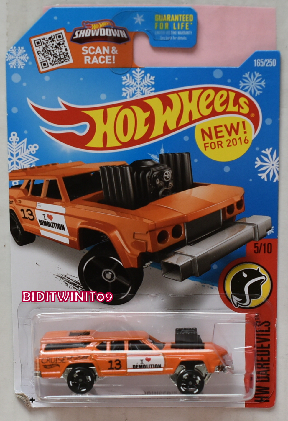 HOT WHEELS 2016 HW DAREDEVILS CRUISE BRUISER SNOW CARD - Click Image to Close