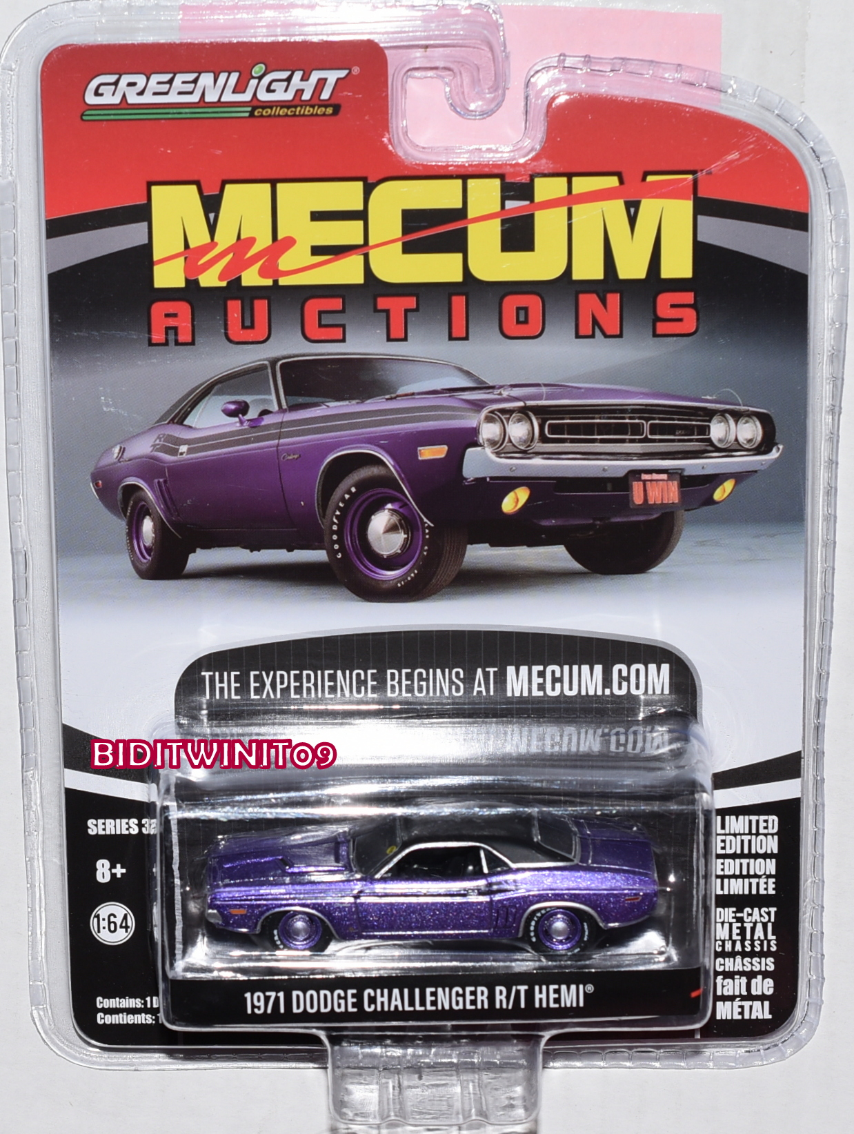GREENLIGHT MECUM AUCTIONS SERIES 3 1971 DODGE HEMI CHALLENGER R/T