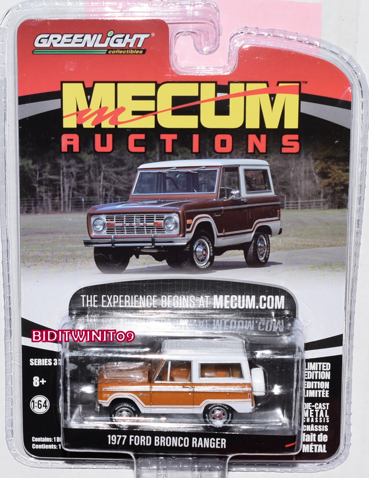 GREENLIGHT MECUM AUCTIONS SERIES 3 1977 FORD BRONCO RANGER