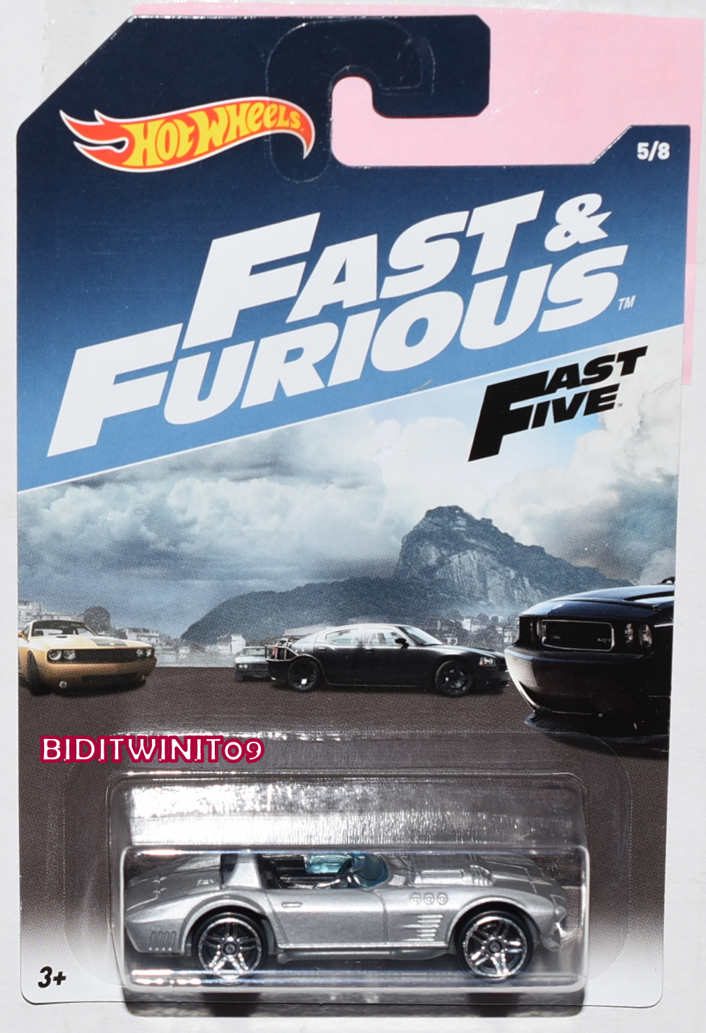 HOT WHEELS 2017 FAST & FURIOUS CORVETTE GRAND SPORT ROADSTER #5/8