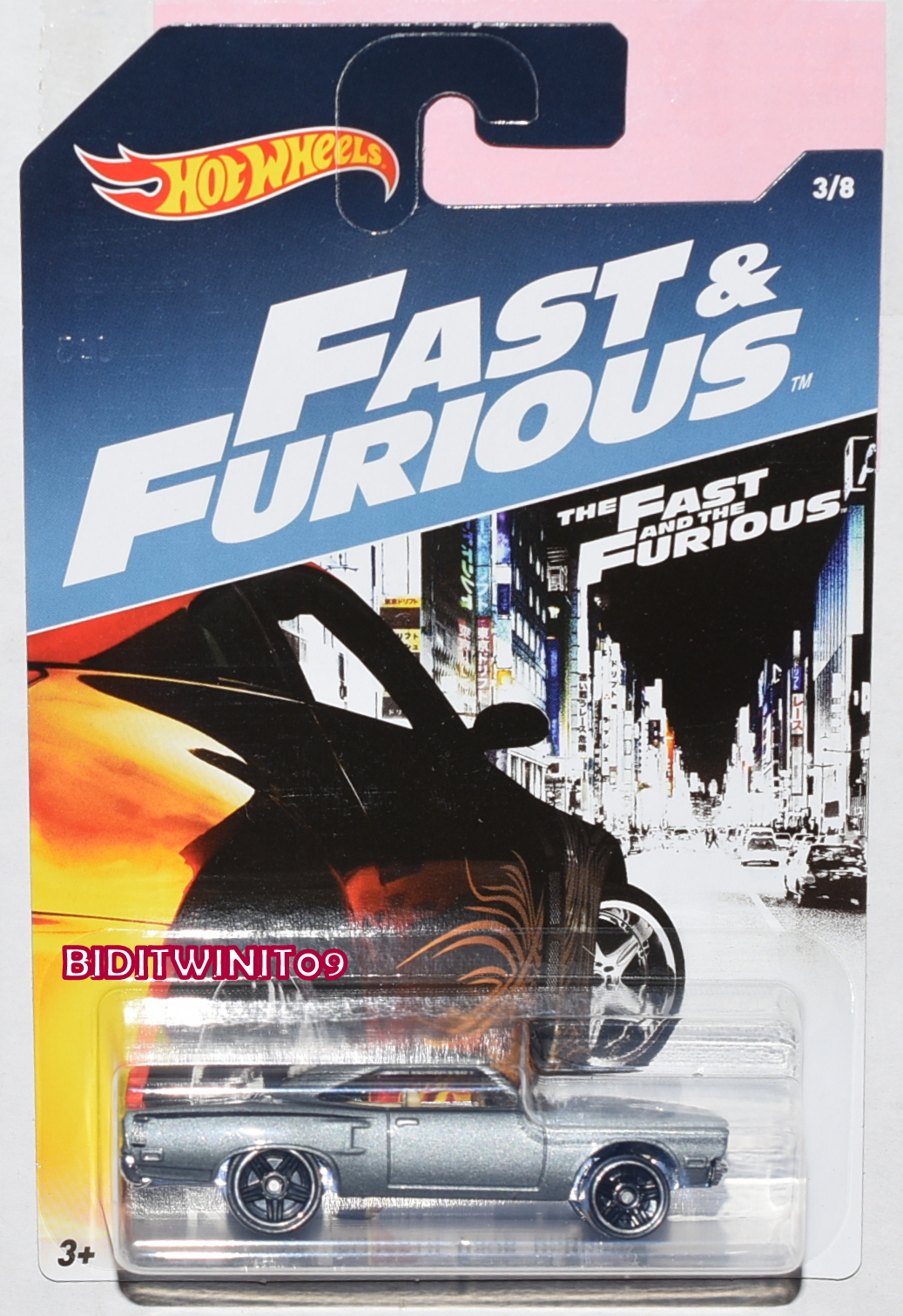 HOT WHEELS 2017 FAST & FURIOUS '70 PLYMOUTH ROAD RUNNER #3/8