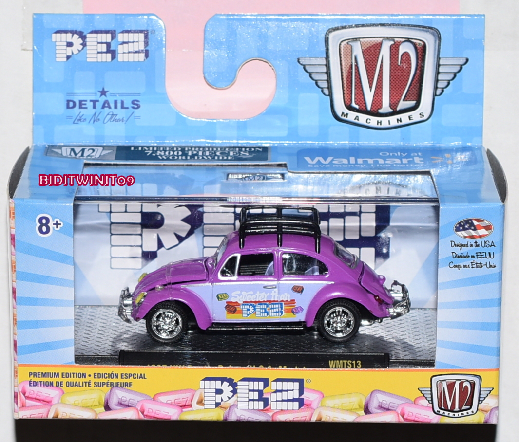 M2 MACHINE 2019 WALMART EXCLUSIVE 1967 VW BEETLE DELUXE U.S.A. MODEL WMTS13 E+