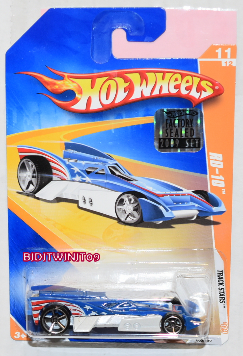 HOT WHEELS 2009 TRACK STARS RD-10 #11/12 BLUE FACTORY SEALED