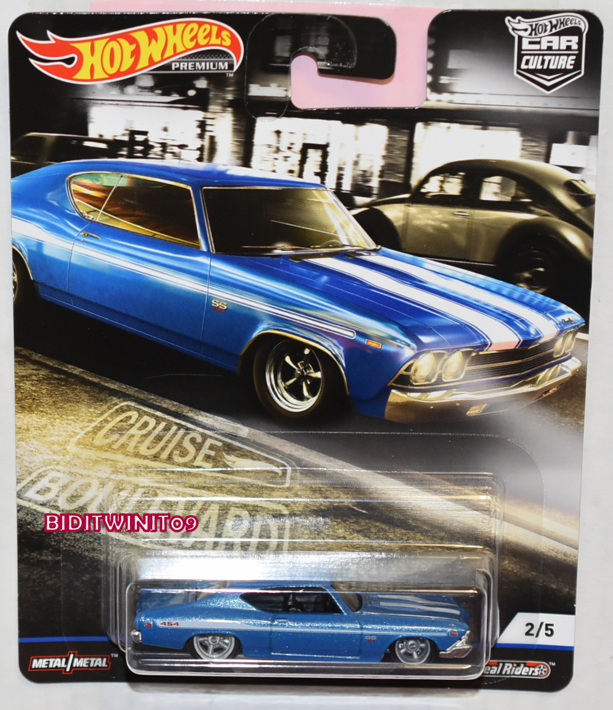 HOT WHEELS 2019 CAR CULTURE BOULEVARD CASE M '69 CHEVELLE SS 396