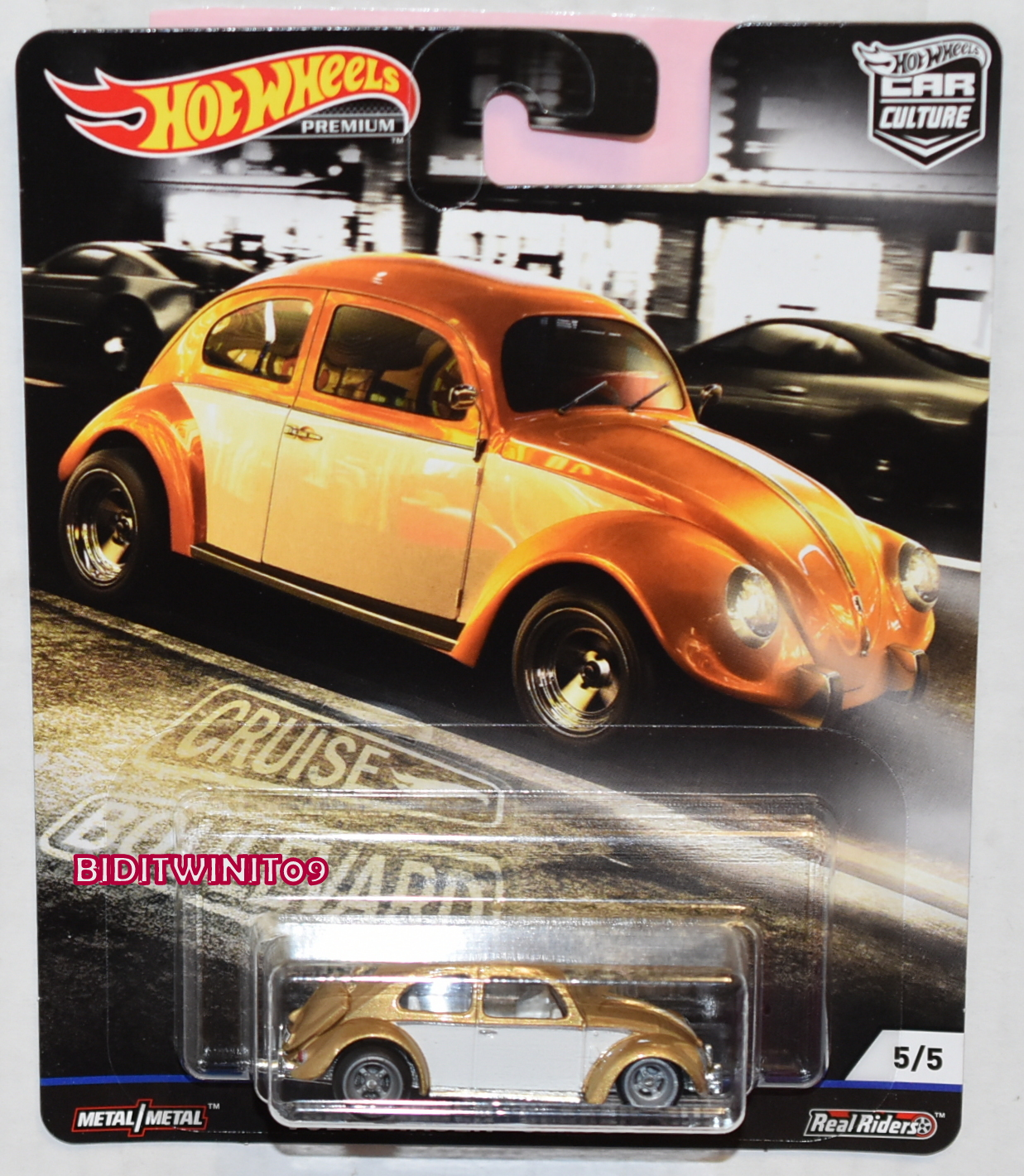 HOT WHEELS 2019 CAR CULTURE BOULEVARD CASE M VOLKSWAGEN CLASSIC BUG