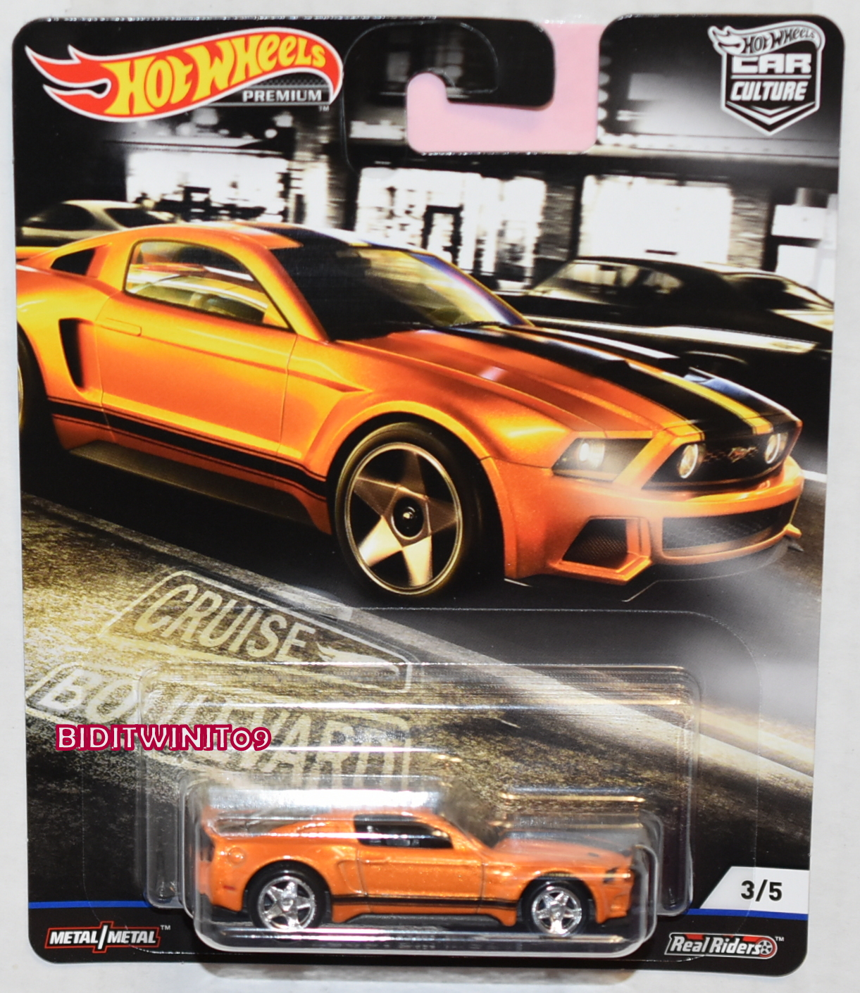 HOT WHEELS 2019 CAR CULTURE BOULEVARD CASE M 2014 CUSTOM MUSTANG