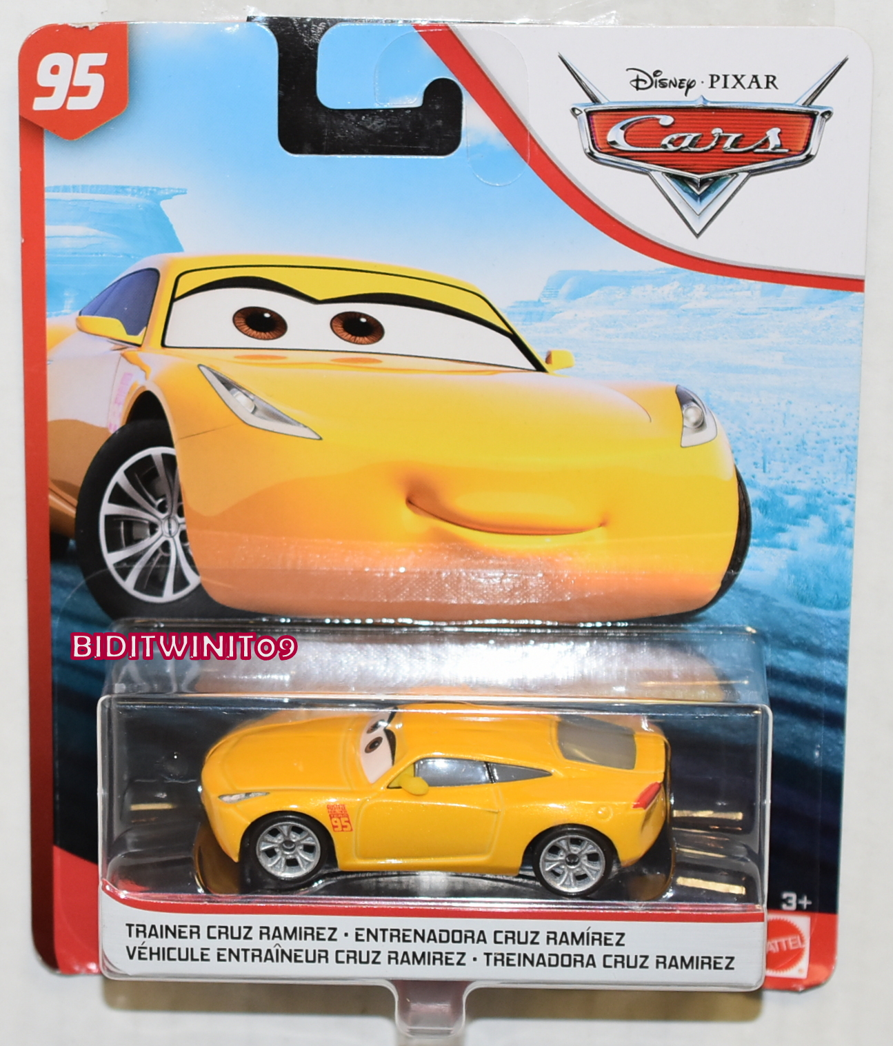 DISNEY PIXAR CARS TRAINER CRUZ RAMIREZ #95 YELLOW