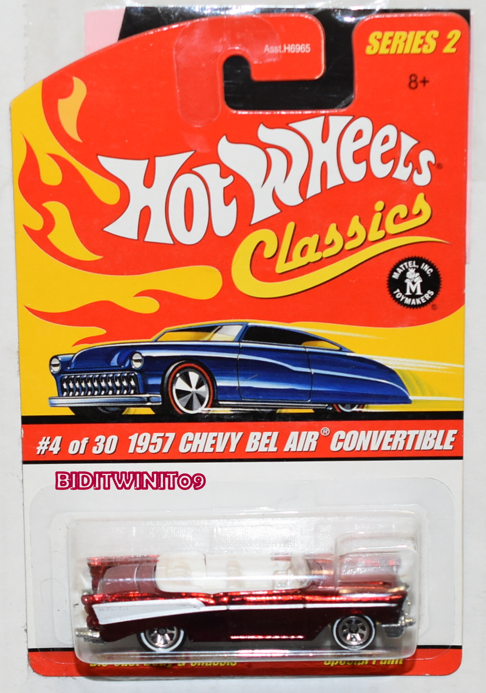 HOT WHEELS CLASSICS SERIES 2 1957 CHEVY BEL AIR CONVERTIBLE #4/30 BRONZE E+