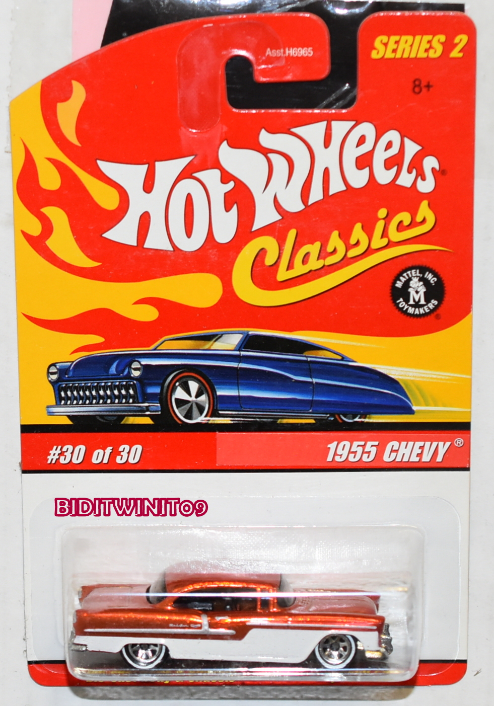 HOT WHEELS CLASSICS SERIES 2 1955 CHEVY #30/30 ORANGE E+