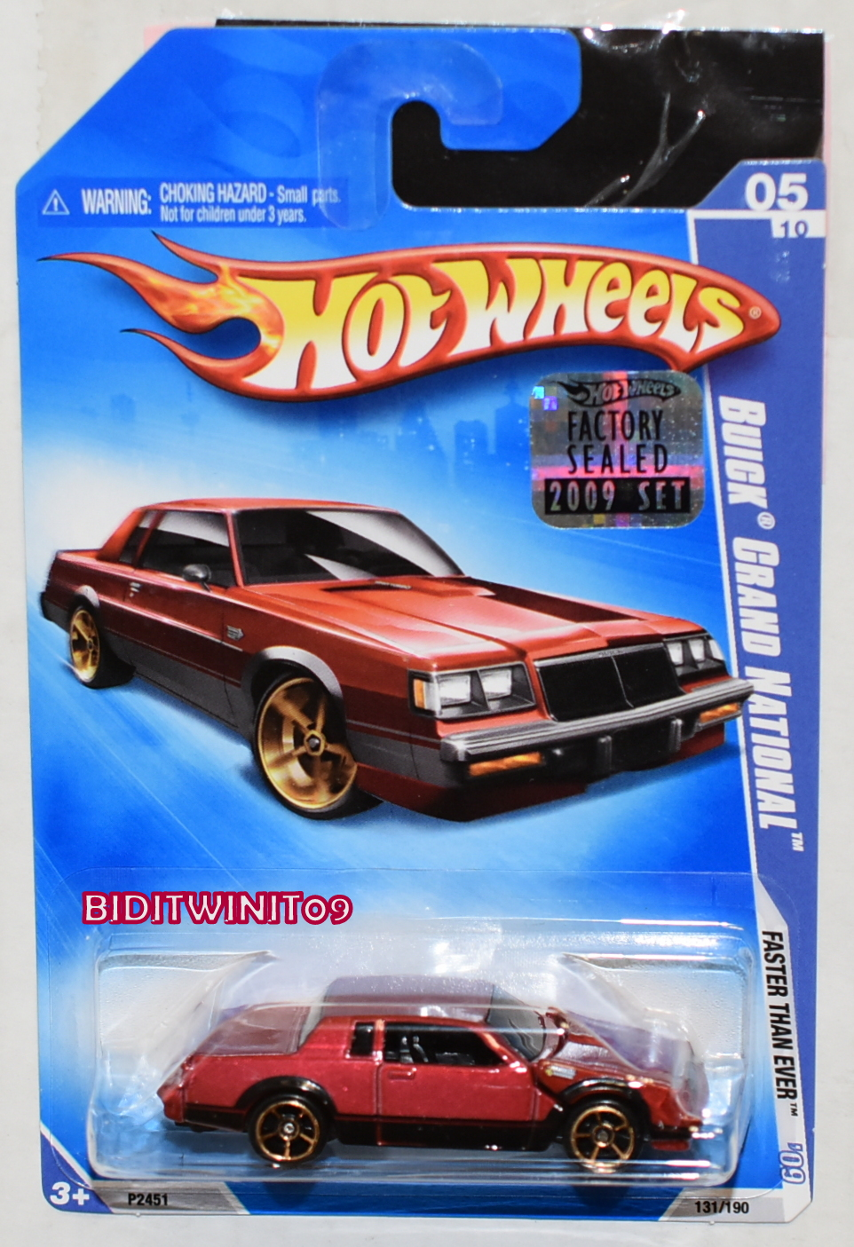 HOT WHEELS 2009 FASTER THAN EVER BUICK GRAND NATIONAL RED FACTORY SEALED