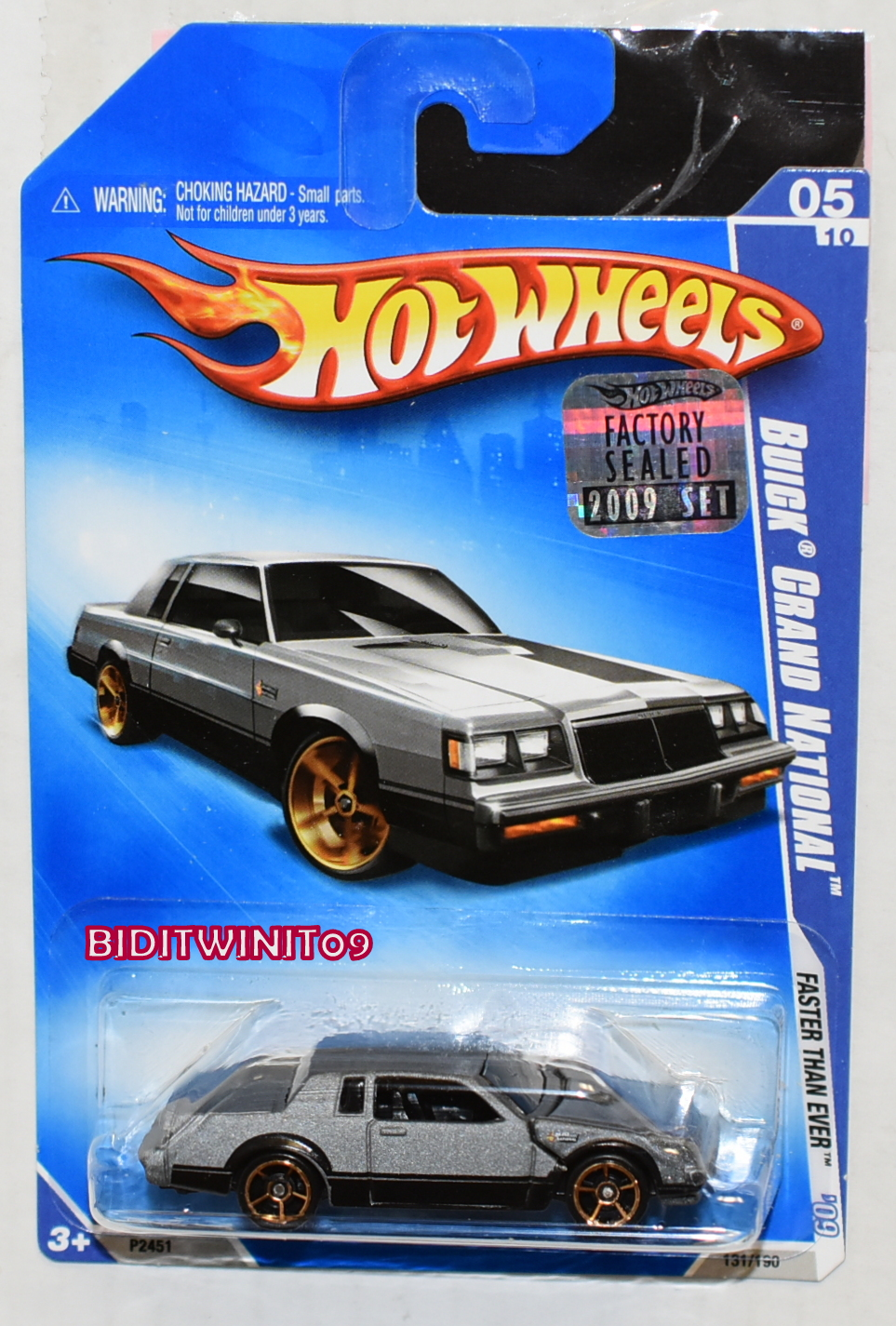HOT WHEELS 2009 FASTER THAN EVER BUICK GRAND NATIONAL FACTORY SEALED - Click Image to Close