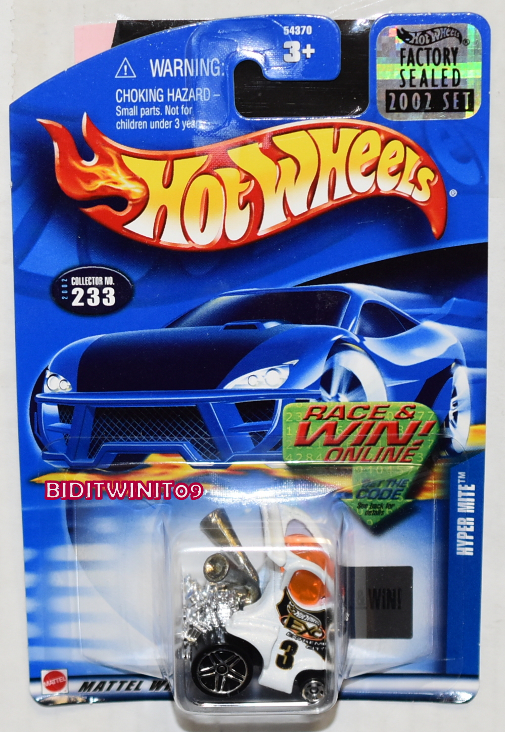 HOT WHEELS 2002 HYPER MITE #233 FACTORY SEALED