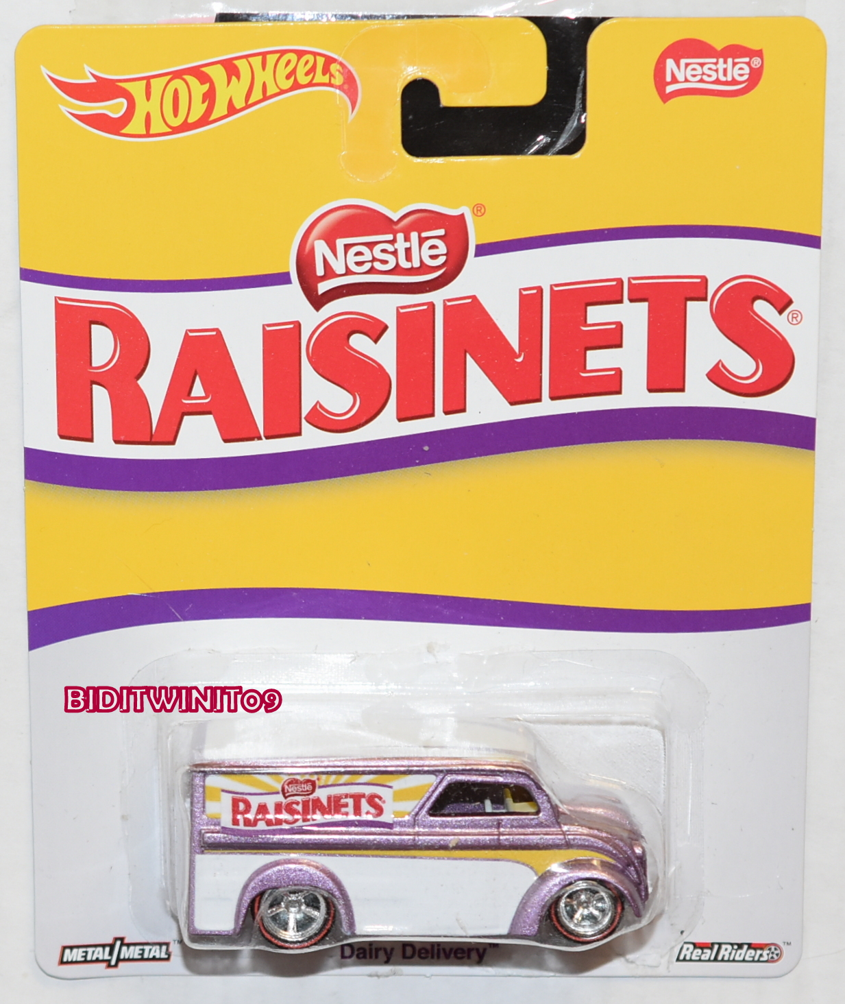 HOT WHEELS 2016 POP CULTURE NESTLE RAISINETS DAIRY DELIVERY