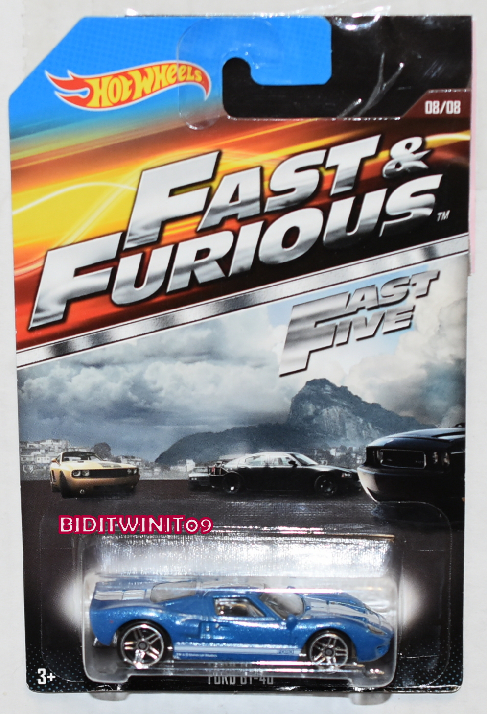 HOT WHEELS 2015 FAST & FURIOUS FORD GT-40 #08/08 BLUE
