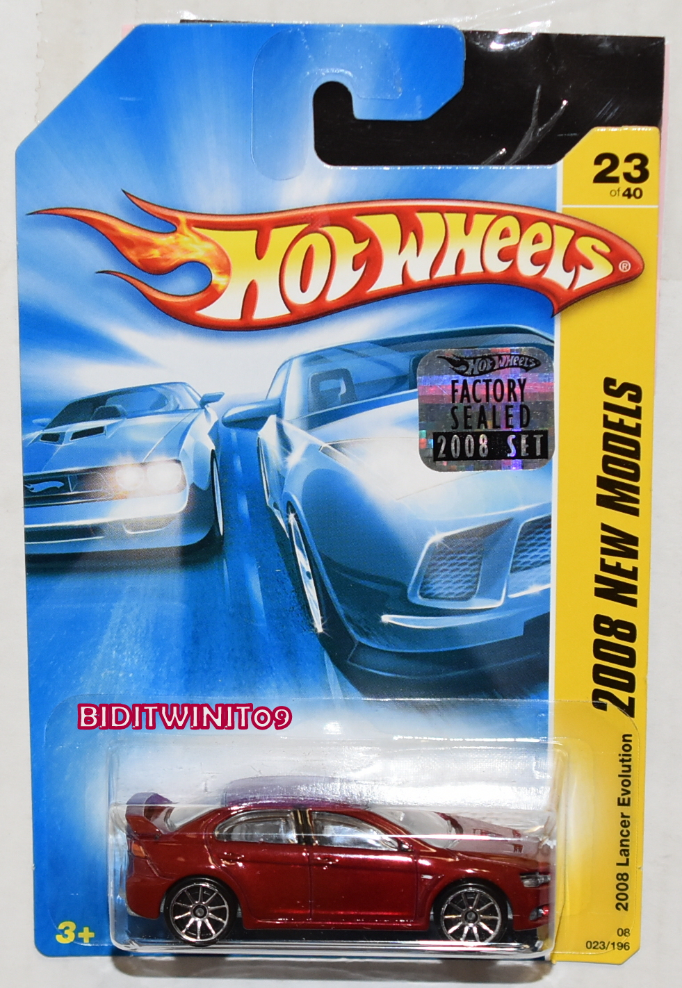 HOT WHEELS 2008 NEW MODELS LANCER EVOLUTION RED FACTORY SEALED