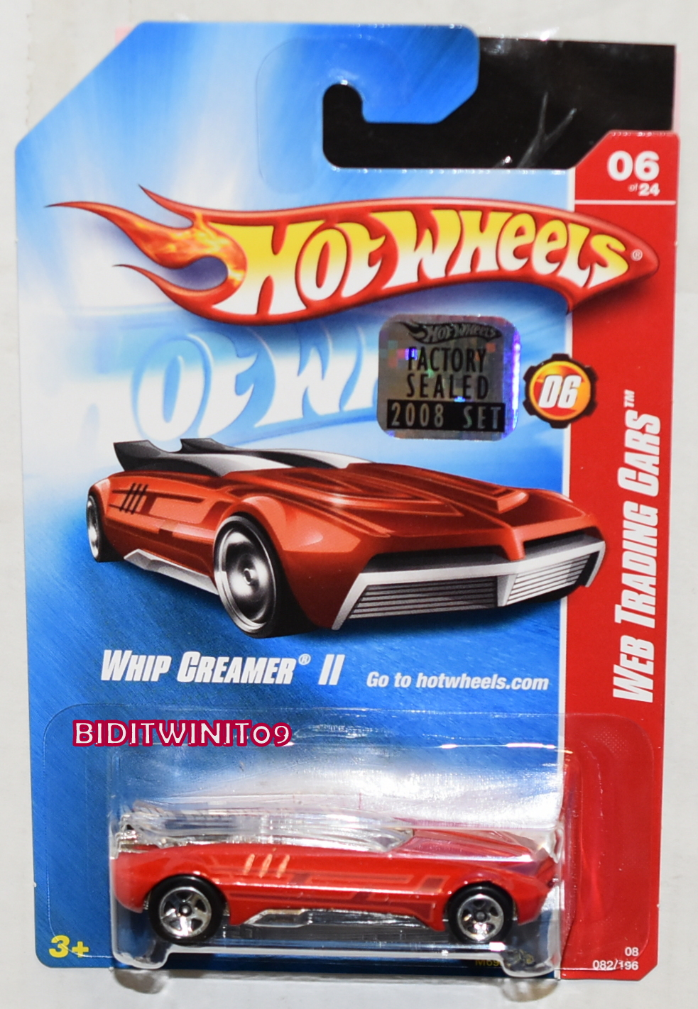 HOT WHEELS 2008 WEB TRADING CARS WHIP CREAMER II RED FACTORY SEALED