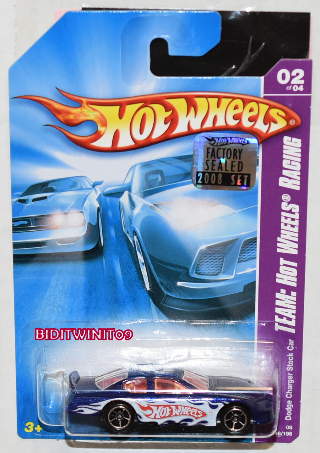 HOT WHEELS 2008 TEAM: HOT WHEELS RACING DODGE CHARGER STOCK CAR FACTORY SEALED