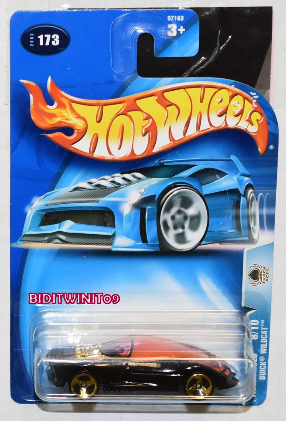 HOT WHEELS 2003 TRACK ACES BUICK WILDCAT #073 BLACK